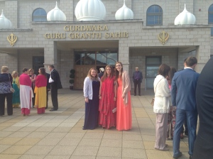 In front of Glasgow Gurdwara