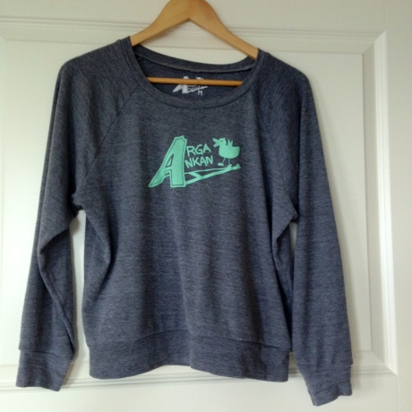 Mint grey raglan Angry Duck jumper