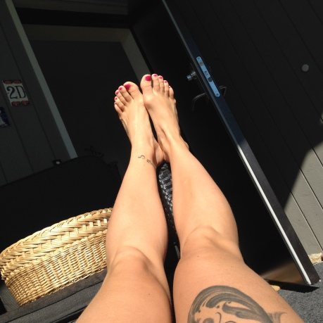 Thigh tattoo Norwegian rose painting