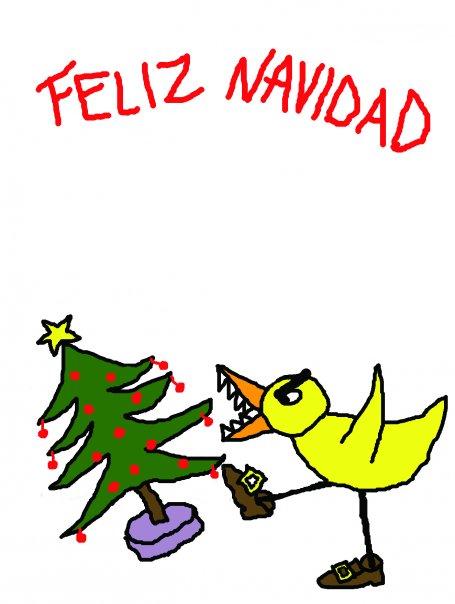 Feliz Navidad Angry Duck