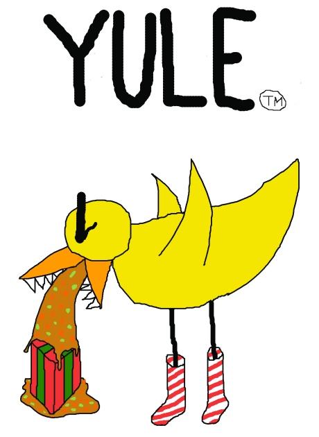 Angry Duck Christmas card 2009