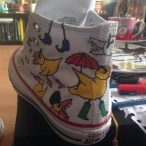 Angry Duck custom Chuck Tayors
