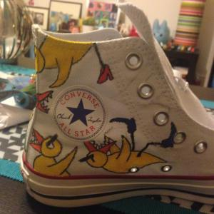 Angry Duck Converse shoes