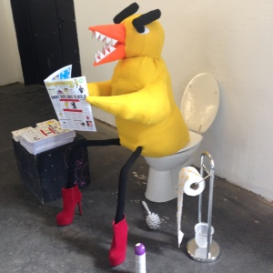 Angry Duck on toilet at Pictoplasma