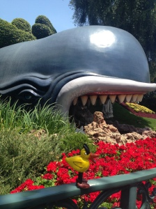 Angry Duck and Monstro the Whale in Disneyland