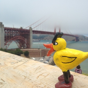 Angry Duck and Golden Gate Bridge